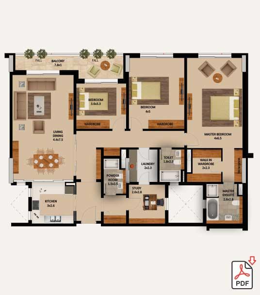 Layout-Type-3-Bedroom